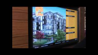 Condo low rise, hi rise, real estate, Marketing, Ad Agencies, Windows on the Green - Touchscreen