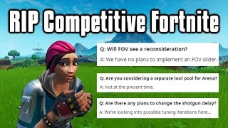 Epic Is Ruining Competitive Fortnite