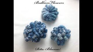 Bullion Flowers- Freeform Crochet - Tutorial