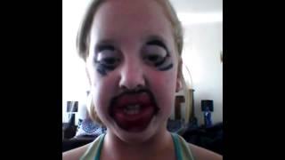 Really Funny Make Up Tutorial. Big Bold Lips.