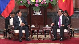 Chủ tịch nước Trần Đại Quang tiếp xã giao Thủ tướng CHDCND Lào