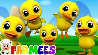 Five Little Ducks | 3D Nursery Rhymes | Kids Songs | Children