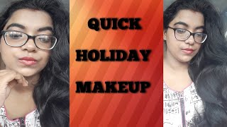 preview picture of video 'QUICK HOLIDAY MAKEUP (FOR GLASS WEARER ALSO )'