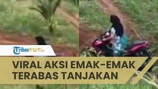 Viral Video Emak-emak Dasteran Terabas Tanjakan Terjal Jalur Off Road, Biasanya Dilewati Motor Trail