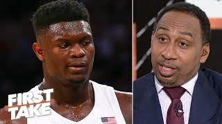 Zion's 'recklessness' concerns Stephen A.: 'It's a torn knee waiting to happen'   First Take