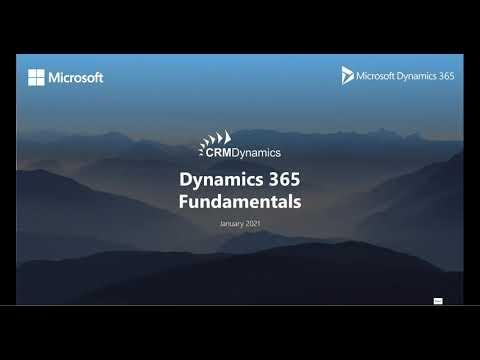 Microsoft Dynamics CRM 2021 Back to Basics – The Fundamentals of CRM (19:50)