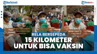 Viral Kisah Lansia Rela Bersepeda 15 Km Demi Vaksin, Hampir Tak Bisa Daftar karena Tak Punya Ponsel