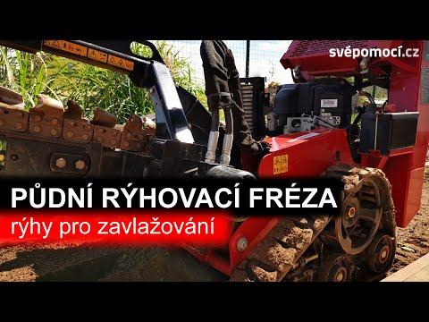 Práce s půdní rýhovací frézou z půjčovny DEK