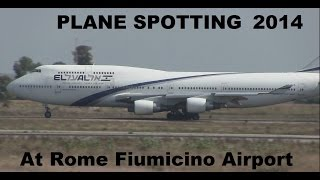 preview picture of video 'PLANE SPOTTING 2014  AT ROME FIUMICINO INTERNATIONAL'