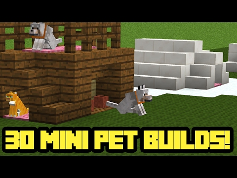 30 MINI Minecraft Pet House Builds!