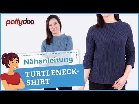 Anleitung Damenshirt mit Turtleneck Rollkragen nähen