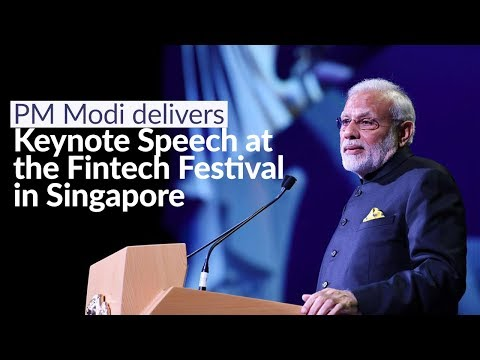 PM Modi delivers keynote speech at the Fintech Festival in Singapore