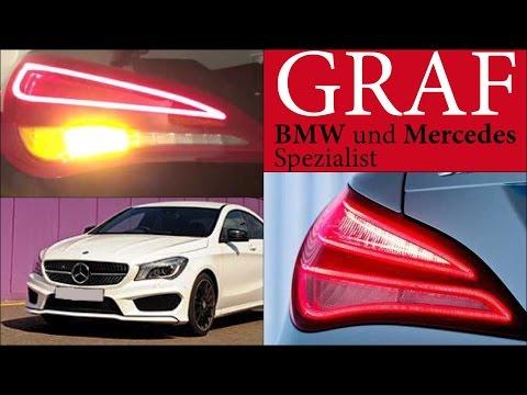 Mercedes US Model Unterschiede EU CLA 117 US Nebelschlussleuchte US rote Blinker USA Reimport