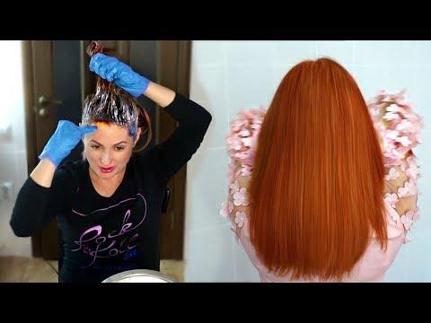 Покрасила волосы в Рыжий цвет/ Как закрасить Фукорцин и Зеленку #СкромняжкаКрис