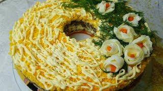 Салат Купеческий, цыганка готовит. Мясной салат. Gipsy cuisine.
