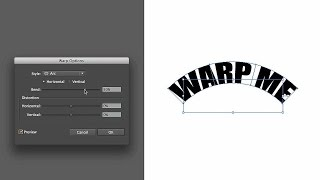 How to Reshape Text with an Object Warp | Adobe Illustrator