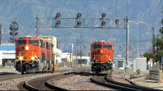 HD: San Bernardino Subdivision Railfanning In March 2014