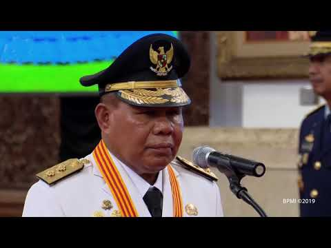 Pelantikan Gubernur dan Wakil Gubernur Maluku Utara Masa Jabatan 2019 2024, Jakarta, 10 Mei 2019