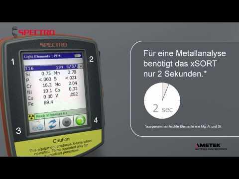 SPECTRO xSORT RFA Handspektrometer - für schnelle und genaue vor-Ort Elementanalytik