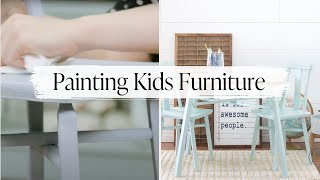 How To Restore Childrens Furniture With VOC Free Paint | Choosing Safe Paint Products For Kids