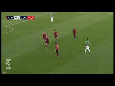 Arezzo-Gozzano 1-0, la sintesi della partita
