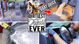 Cleaning The Dirtiest Car Interior Ever! Complete Disaster Transformation Detailing A Jeep Cherokee