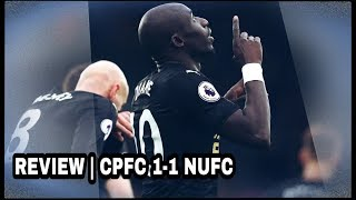 REVIEW   CRYSTAL PALACE 1-1 NEWCASTLE UNITED