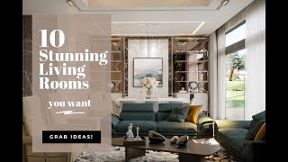 10 Modern Living Room Interior Design Ideas   Large Family Sitting Room Design   Dream Living Room