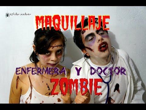 MAQUILLAJE ENFERMERA Y DOCTOR ZOMBIE *TUTORIAL FACIL* /Estilo-Xalver