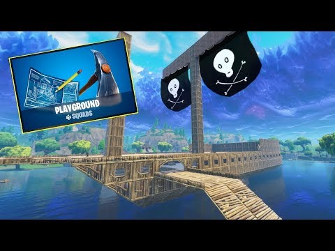 PIRATE SHIP ON LOOT LAKE! - Fortnite Playground Time Lapse