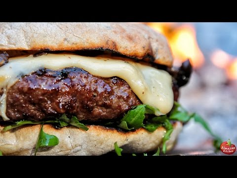 THE.BEST.CHEESEBURGER - FOODPORN WARNING! \ Cooking in the Forest