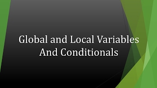 Global and Local Variables in VBA
