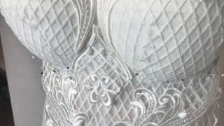 How To Decorate The Wedding Dress/ Lace Decorating/ Making Couture Wedding Gown/ How To Sew A Corset