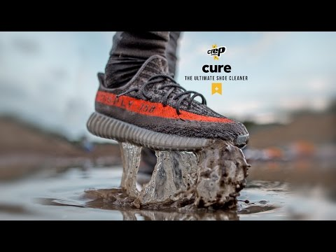 Unreleased  Adidas Yeezy Boost 350 V2 Grey/Beluga-Solar Red Extreme Clean with Crep Protect cure