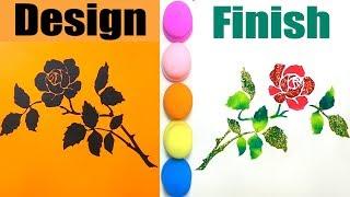 Draw Flower With A Stencil | Easy STENCIL | DIY STENCIL