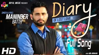 DIARY of Lost Love  Maninder Batth