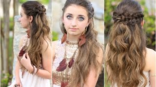 Braided Half Up | Hairstyles for Prom