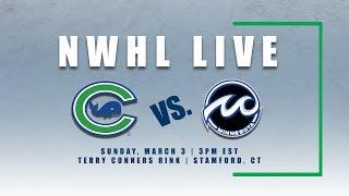 NWHL Live: Minnesota at Connecticut 03.03.19