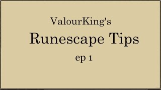 [OSRS] Runescape Tips - ep1 - Using the escape key to close the bank