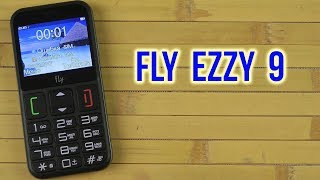 Мобильный телефон (бабушкофон) Fly Ezzy 9 Black от компании Cthp - видео