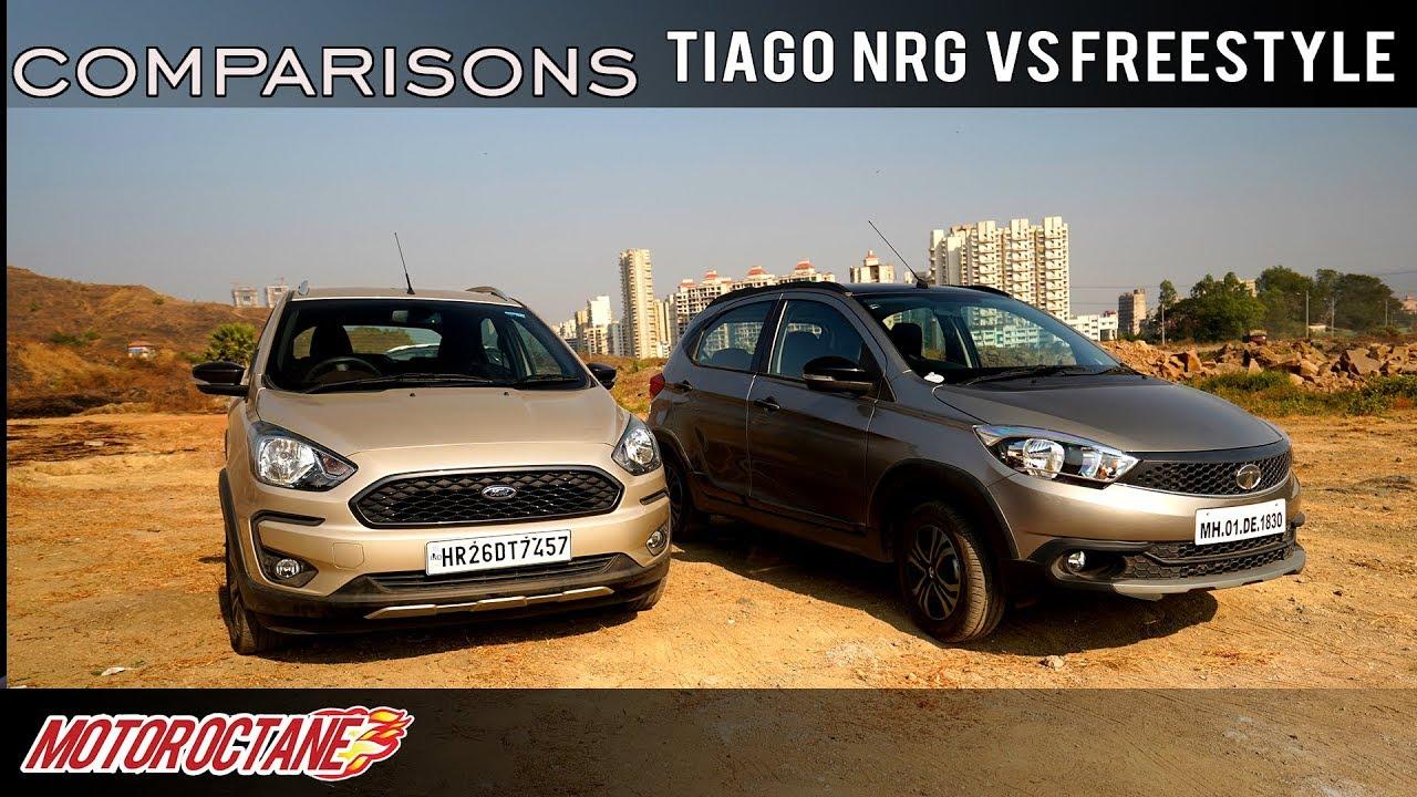 Motoroctane Youtube Video - Tata Tiago NRG vs Ford Freestyle Comparison | Hindi | MotorOctane