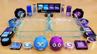 Mixing Makeup Eyeshadow Into Slime! Purple vs Blue Special Series Part 40 Satisfying Slime Video
