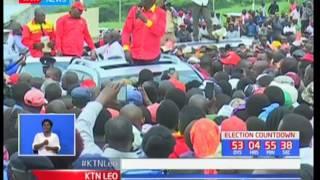 Rais Uhuru Kenyatta ajitenga na wizi wa kura akifanya mkutano wa Jubilee Kericho