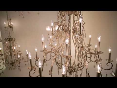 Video for Carlton Silver Leaf Five-Light Chandelier