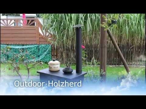 Outdoor Holzherd  Garten Backofen Außenküche Terrassenherd