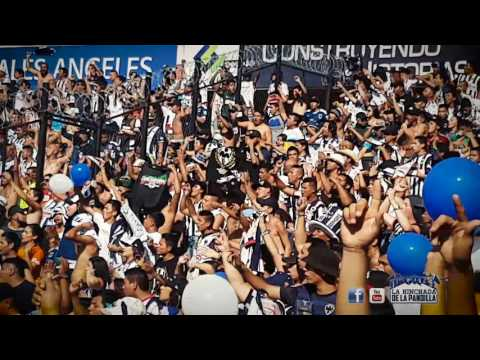 """""""LA HINCHADA DE LA PANDILLA partido Querétaro vs Monterrey"""" Barra: La Adicción • Club: Monterrey"""