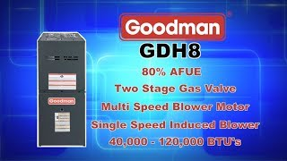Goodman GDH80 Series 80% AFUE Furnace