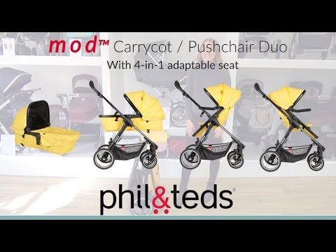 Phil & Teds MOD Pushchair & Carrycot Store Demo – Direct2Mum