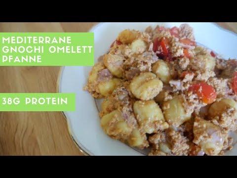 Fitness Rezept | Mediterrane Gnocchi Omelett Pfanne
