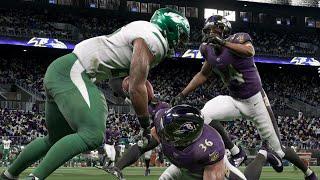 NFL 12/12 - New York Jets vs Blatimore Ravens Full Game Highlights | NFL Week 16 (Madden)
